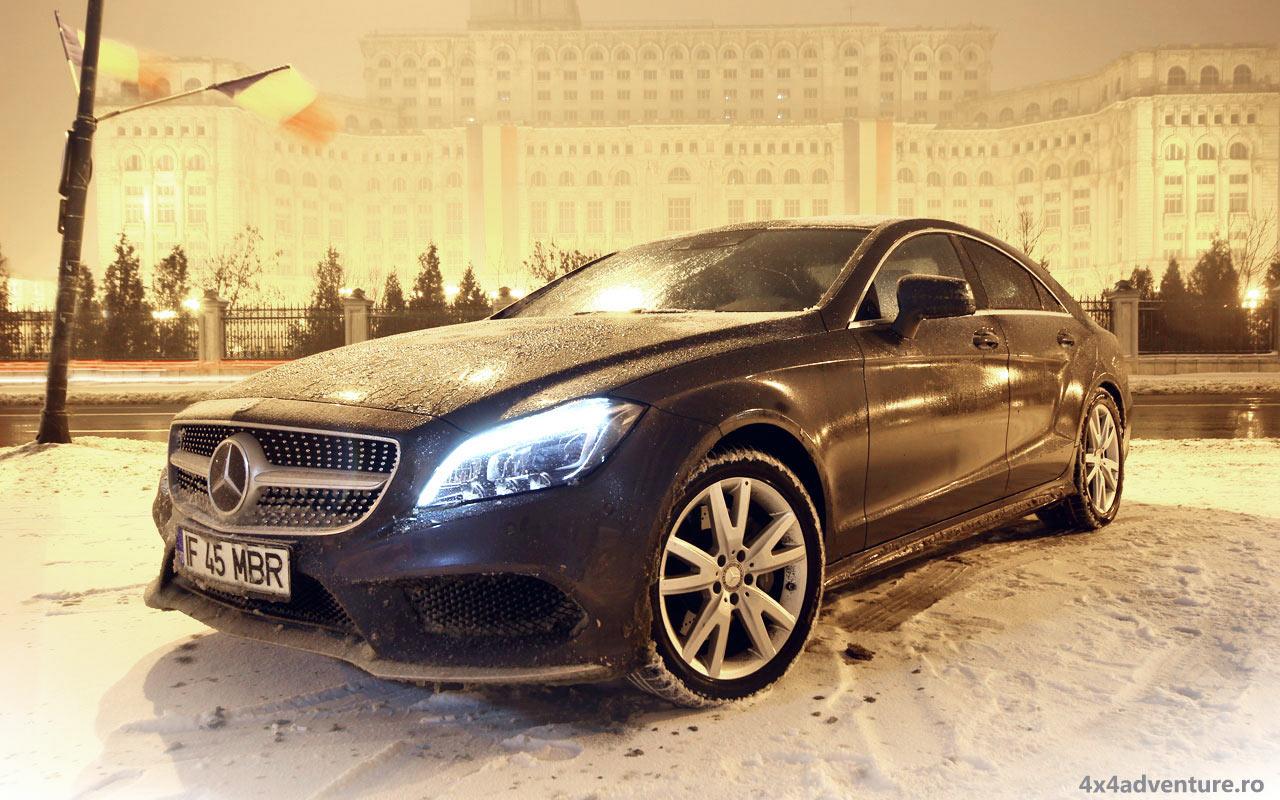 Test Mercedes-Benz CLS 4Matic. Stilul se păstrează indiferent de condiţii