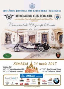 Afisul oficial al Concursului de Eleganta Sinaia 2017