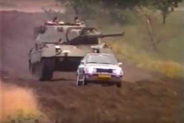 BMW 325ix vs Leopard Tank