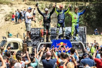 Podium Red Bull Romaniacs 2017 Clasa-Gold-1. Jarvis; 2. Roman; 3.Bolton Foto: Red Bull Media Content Pool