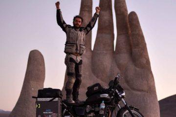 Kane Avellano și al său Triumph Bonneville