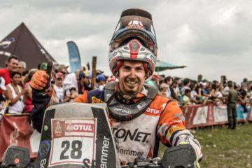 Mani Gyenes la finalul ultimei probe din Dakar 2018
