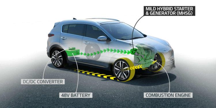Kia Sportage hibrid diesel 48V