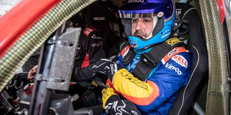 Fernando Alonso Test Rally Raid