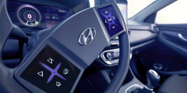 Hyundai interior concept touchscreen volan