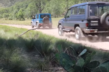 Jimny versus Troopy off road test